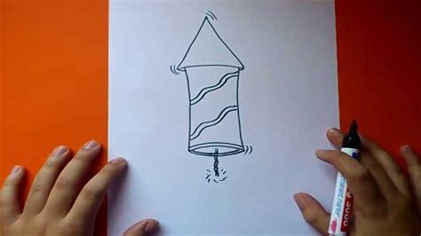 Como dibujar un cohete paso a paso 2   How to draw a ...