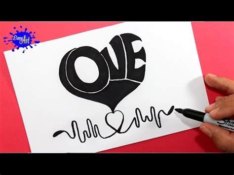 Como dibujar un corazon/ how to draw Heart/ AMOR   YouTube