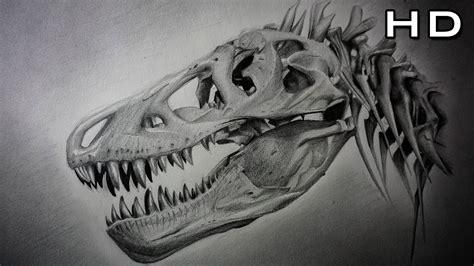 Cómo Dibujar un Cráneo de Tiranosaurio Rex Paso a Paso ...