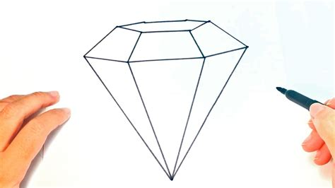Cómo dibujar un Diamante paso a paso   Dibujo fácil de ...