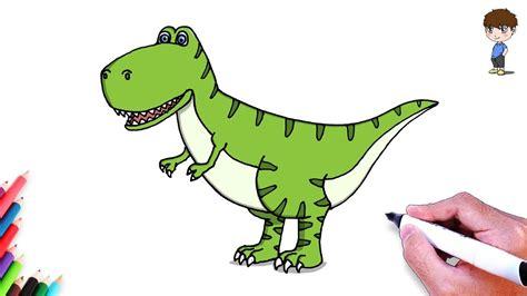 Como Dibujar un Dinosaurio Kawaii Paso a Paso   Dibujos ...