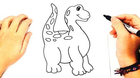 Cómo dibujar un Dinosaurio para niños   Dibujo de ...