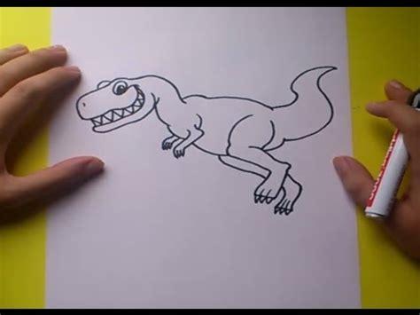 Como dibujar un dinosaurio paso a paso 6   How to draw a ...