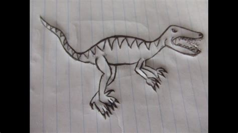 como dibujar un dinosaurio raptor   YouTube