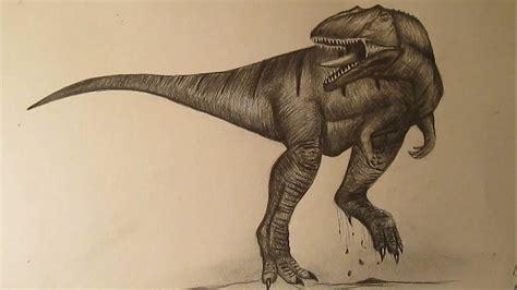 Cómo dibujar un dinosaurio realista a lápiz paso a paso ...