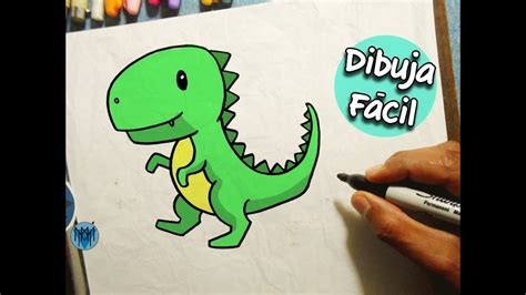 Cómo Dibujar un Dinosaurio T Rex Fácil | Dibustrador Art ...