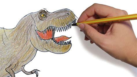COMO DIBUJAR UN DINOSAURIO: Tiranosaurio Rex facil paso a ...