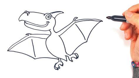 Cómo dibujar un Dinosaurio Volador paso a paso y fácil ...