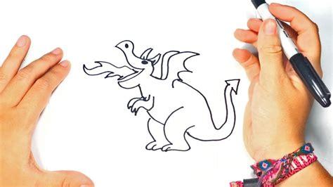 Como dibujar un Dragon para niños | Dibujo de Dragon paso ...