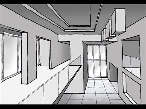 Como dibujar un espacio interior a doble altura con 1 ...
