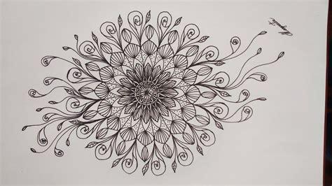 Como Dibujar un Hermoso Mandala Simétrico, fácil. How to ...