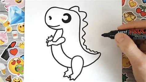 Cómo dibujar un juguete dinosaurio kawaii paso a paso ...