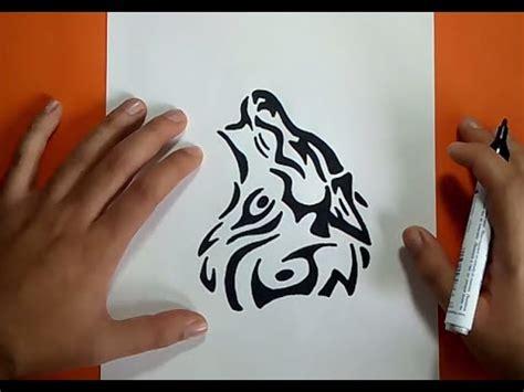Como dibujar un lobo tribal paso a paso   How to draw a ...