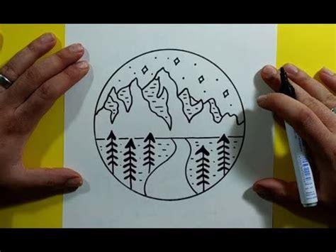 Como dibujar un paisaje paso a paso   How to draw a ...