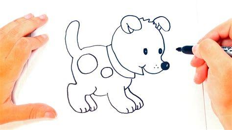 Cómo dibujar un Perrito paso a paso   Dibujo fácil de ...