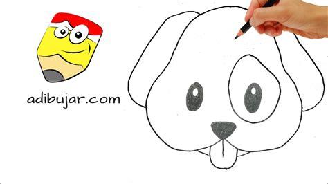 Cómo dibujar un perro emoji de Whatsapp a lápiz . Dibujos ...