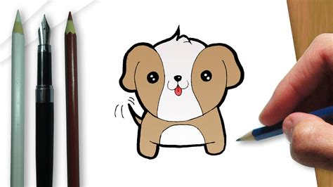 Como Dibujar Un Perro Kawaii Facil