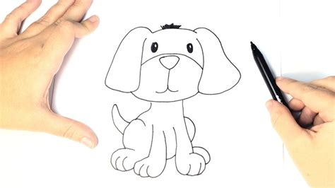 Cómo dibujar un perro para niños   Dibujo Fácil de Perro ...