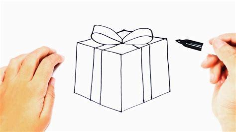 Como dibujar un Regalo o Paquete de Regalo   YouTube