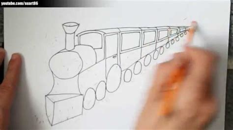 Como dibujar un tren en perspectiva   YouTube