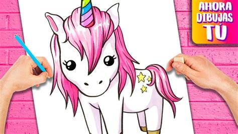 Como dibujar un UNICORNIO   Dibujos KAWAII   YouTube