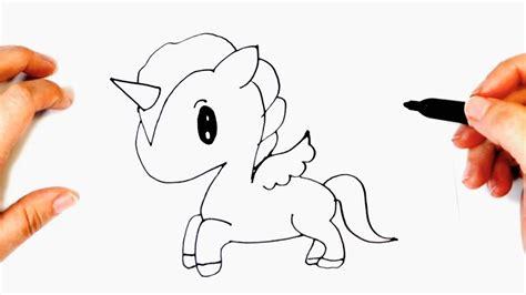Cómo dibujar un Unicornio Kawaii   Dibujos Kawaii Fáciles ...