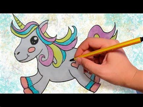 COMO DIBUJAR UN UNICORNIO KAWAII: Dibujos para niños paso ...