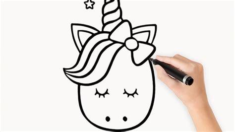 Como dibujar un Unicornio kawaii paso a paso   YouTube