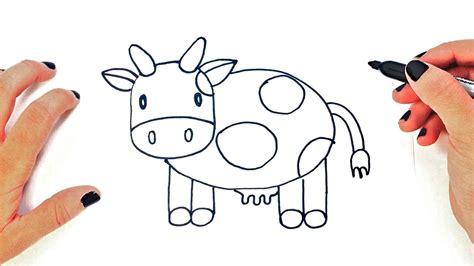 Cómo dibujar un Vaca paso a paso   Dibujo fácil de Vaca ...