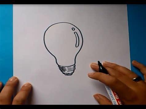 Como dibujar una bombilla paso a paso 2 | How to draw a ...