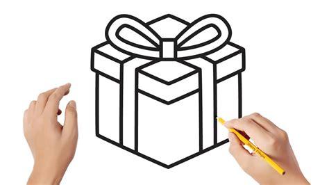 Cómo dibujar una caja de regalo | Dibujos sencillos