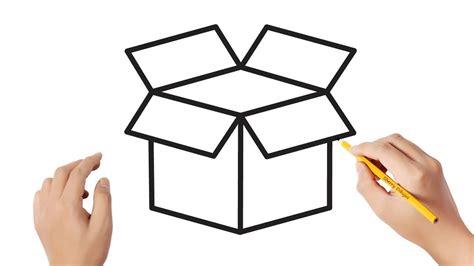 Cómo dibujar una caja | Dibujos sencillos   YouTube