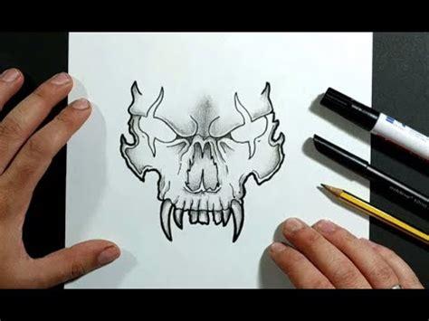 Como dibujar una calavera paso a paso 33   How to draw a ...