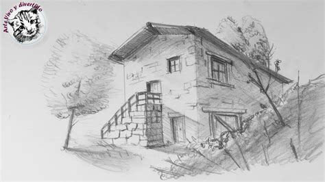 Como Dibujar una Casa en Perspectiva de Dos Puntos muy ...