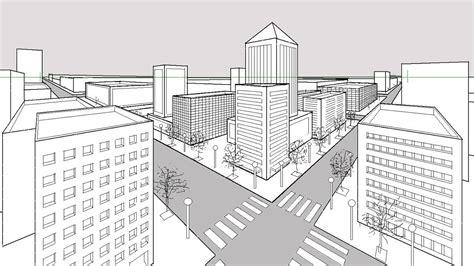 Cómo dibujar una ciudad en perspectiva cónica de dos ...