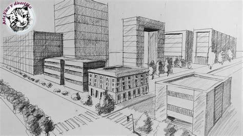 Como Dibujar una Ciudad en Perspectiva de Dos Puntos Paso ...