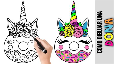 Como Dibujar Una Dona Unicornio ★ Tutorial De Dibujos ...