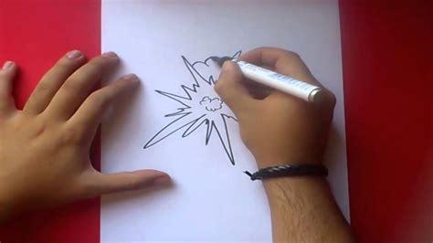 Como dibujar una explosion paso a paso 2   How to draw an ...