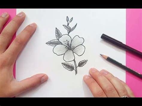 Como dibujar una flor paso a paso 16 | How to draw a ...