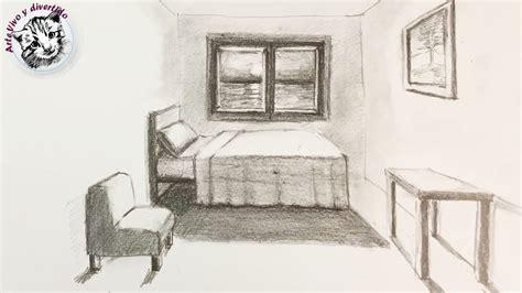 Como Dibujar una Habitacion en Perspectiva de Un Punto muy ...
