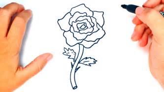 Cómo dibujar una Rosa paso a paso   Dibujo fácil de Rosa ...