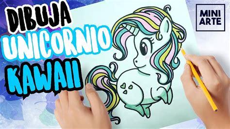 como dibujar unicornio kawaii paso a paso   dibujos kawaii ...