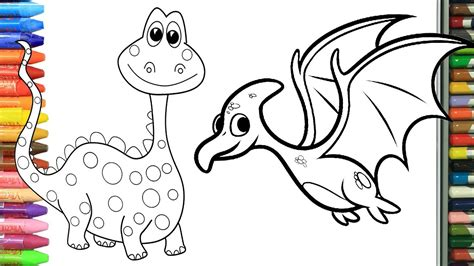 Cómo Dibujar y Colorear dinosaurios   Dibujos Para Niños ...