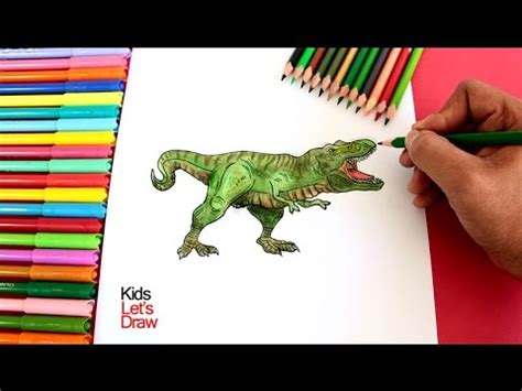 Cómo dibujar y colorear un Tiranosaurio Rex | How to Draw ...