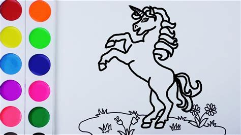 Como Dibujar y Colorear Un Unicornio de Arco Iris   Arte y ...