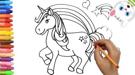 Cómo Dibujar y Colorear unicornio | Dibujos Para Niños con ...