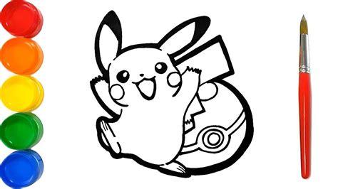 Como Dibujar y Pintar Pikachu con la Pokebola   Dibujos ...
