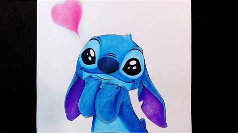 Como dibujo a Stitch ENAMORADO / Tierno / Kawaii   Esteban ...