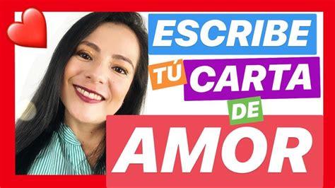 COMO ESCRIBIR UNA CARTA DE AMOR   YouTube