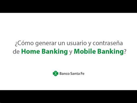 ¿Cómo generar un usuario y contraseña de Home Banking y ...